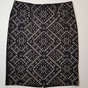 Chico's knit skirt with cut outs